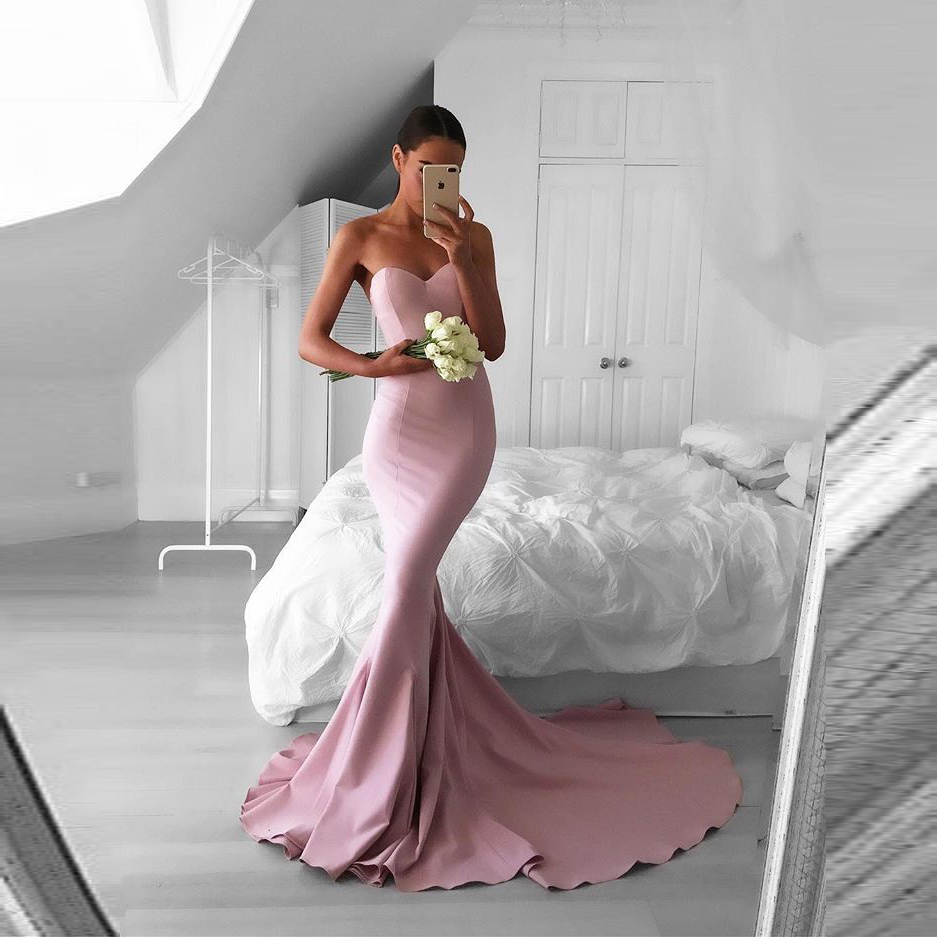 New Sweetheart Mermaid Prom Dress Formal Gown Evening Dress Sweep Train Puffgirls Online Store Powered By Storenvy