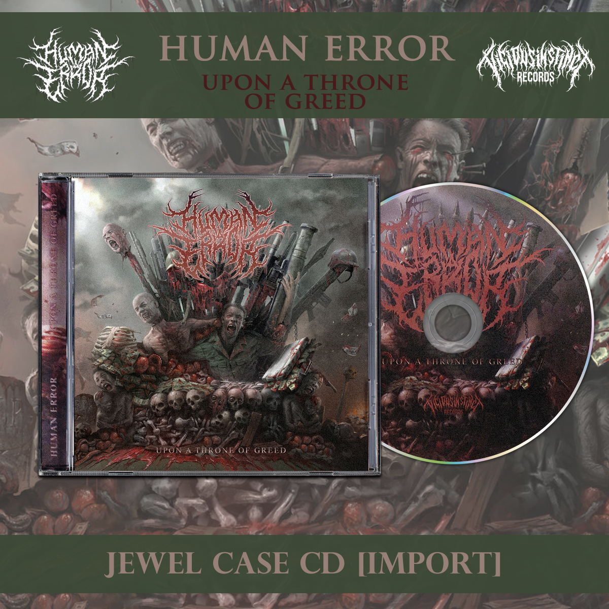 Upon A Throne Of Greed [Import] · Chugcore