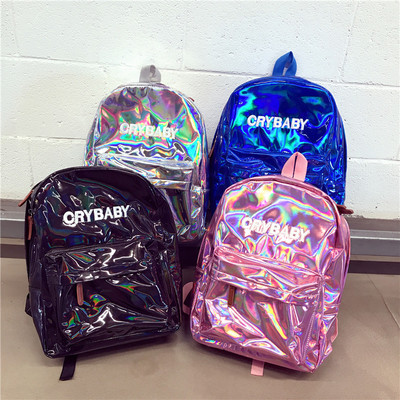 e4d15cc9129 CRY BABY HOLOGRAPHIC BACKPACK · shopmeiding · Online Store Powered ...
