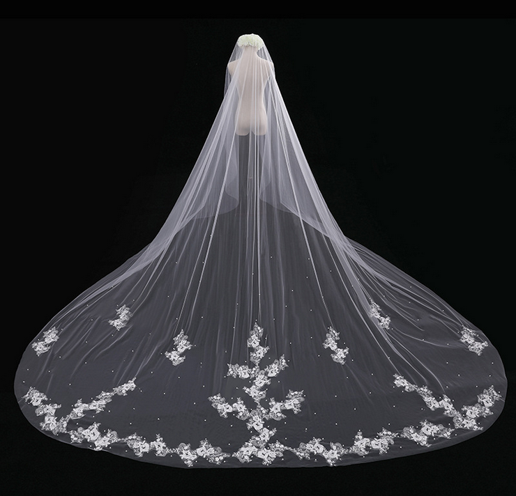 Cathedral Lace Tulle Wedding Veil Bridal Veil Wedding Veil Ff015