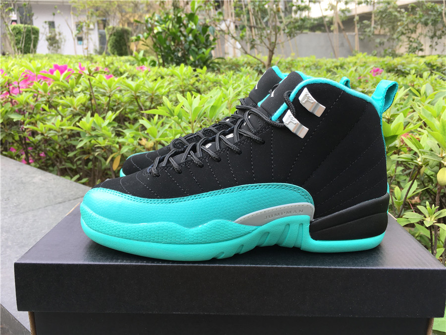 "7caeb04c12ce54 Nike Air Jordan 12 GS ""Hyper Jade"" women s Shoes Nike Air Jordan 12 ..."