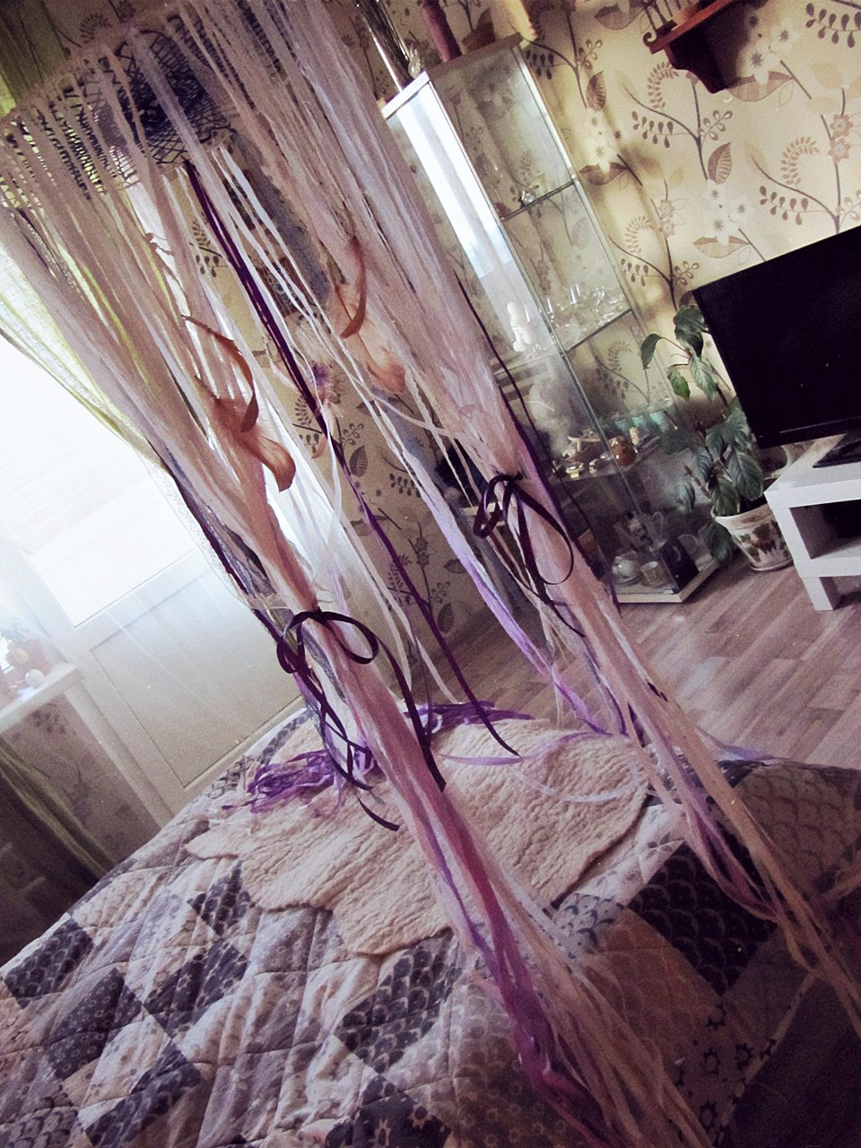 - Queen Size Bed Canopy - Gypsy Bedroom Decor - Bohemian Bed Crown