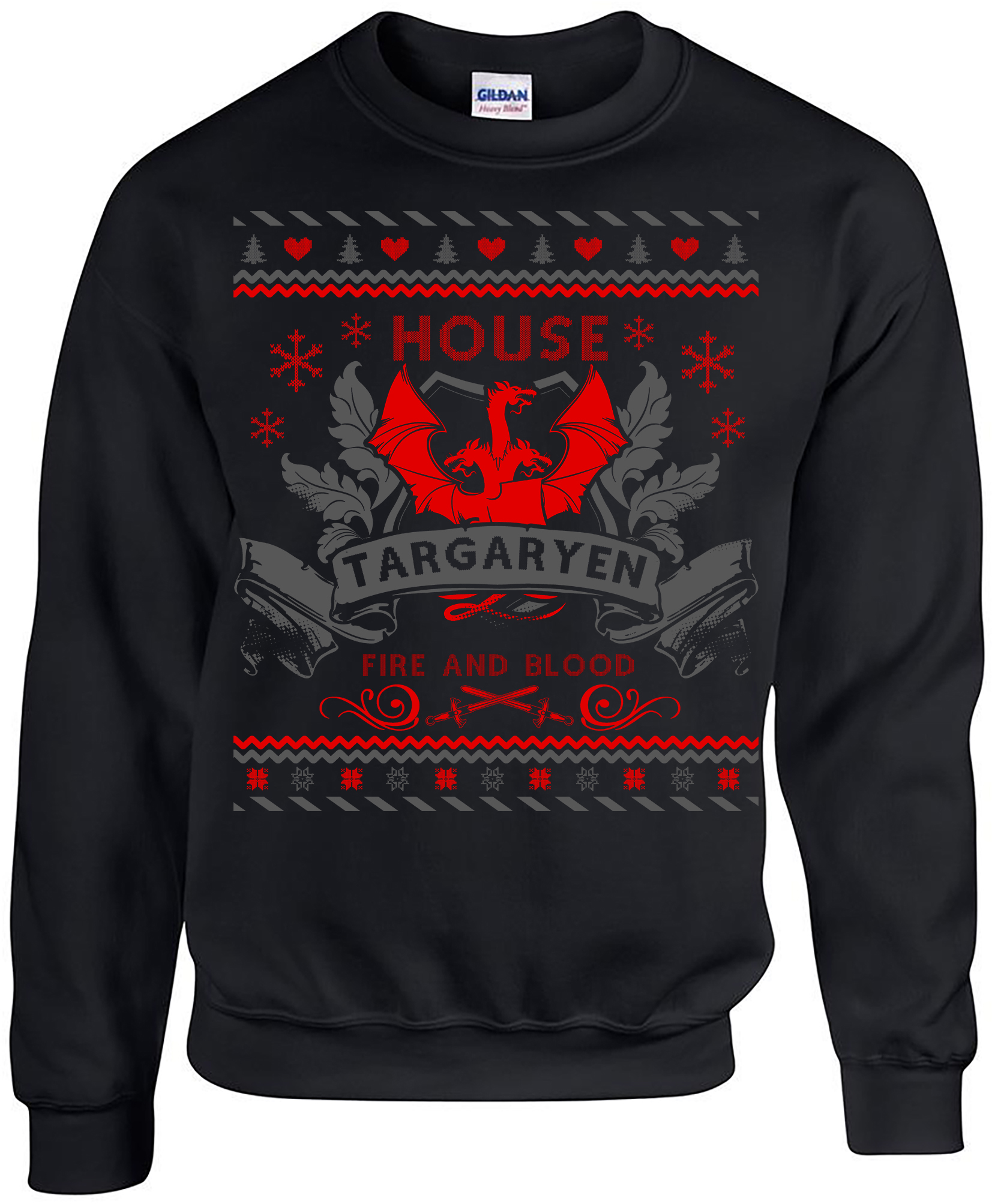 Game of Thrones. Ugly Christmas Sweater. Game of Thrones Sweatshirt. Ugly Sweater House of Targaryen. Unisex Sweatshirt OxRtZAV7jY