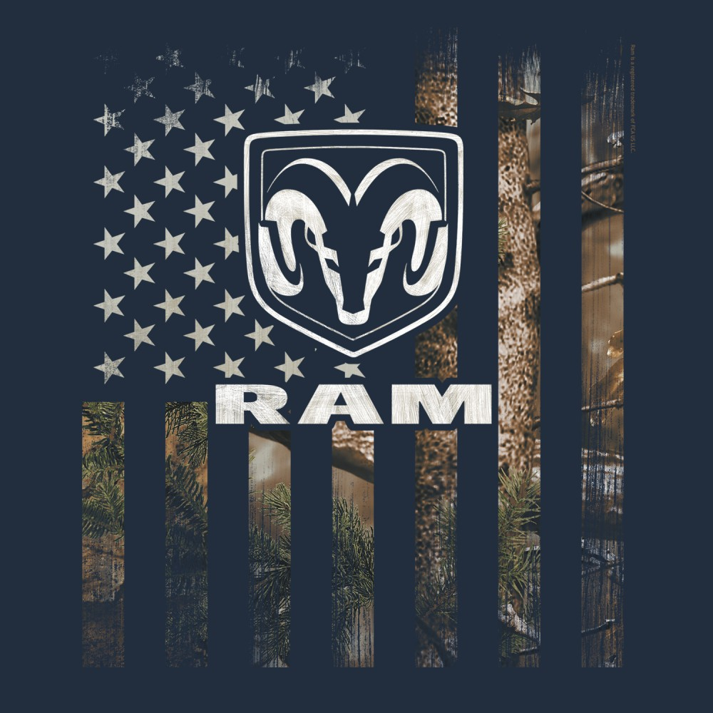 new licensed dodge ram dodge ram logo on realtree camo. Black Bedroom Furniture Sets. Home Design Ideas