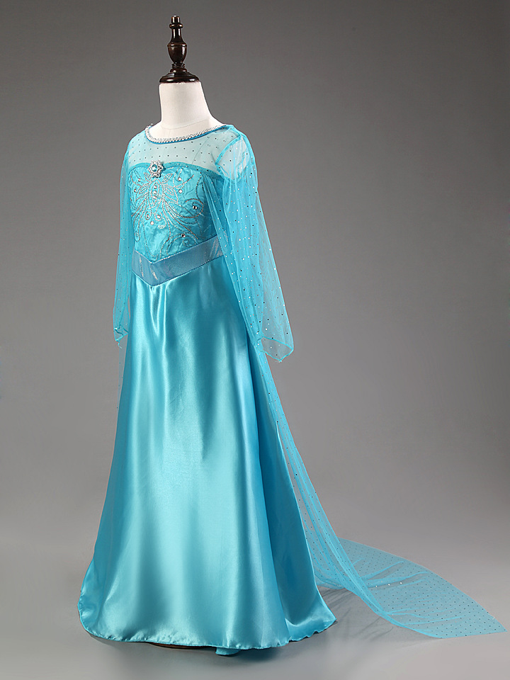 995f958ea NEW Girls Costume Cosplay Party Princess Frozen Elsa Anna Fancy ...