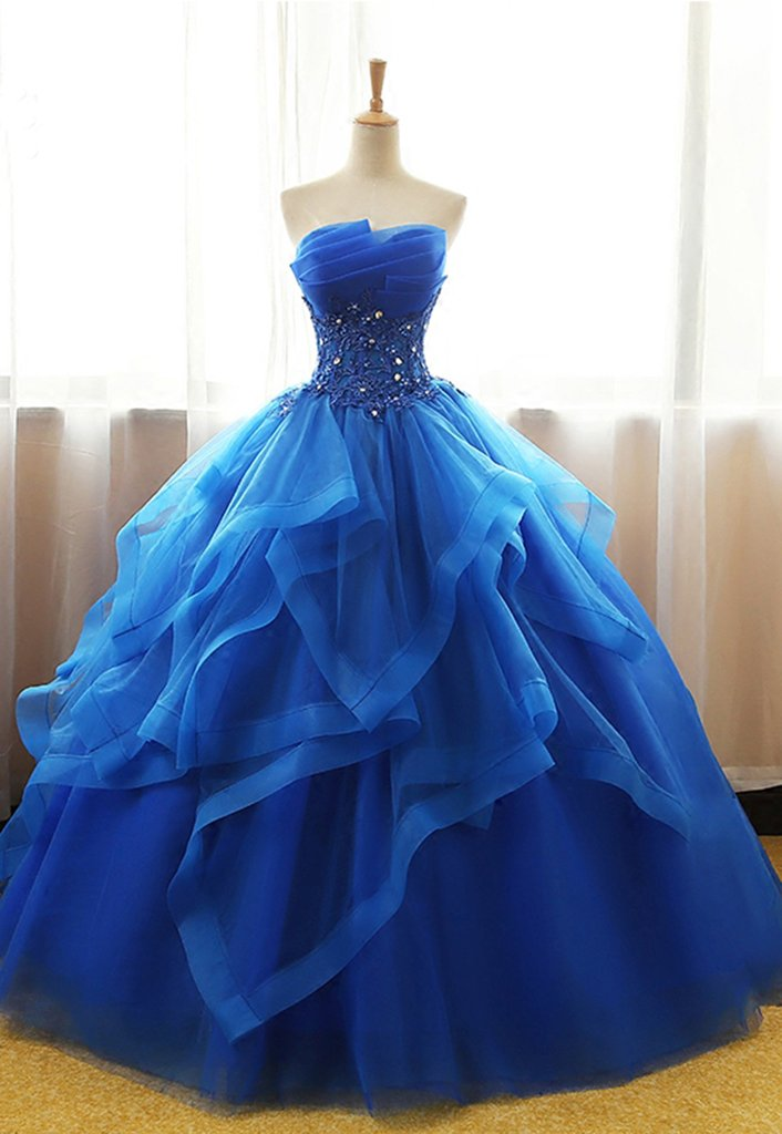 Electric Blue Ball Gown Dresses