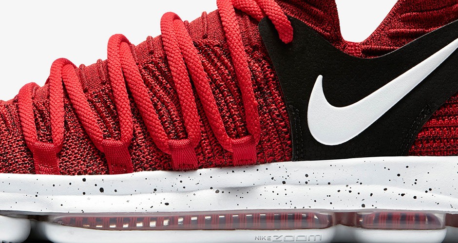 """the best attitude a8f4f fa843 NIKE KD 10 """"RED VELVET"""" Color  University Red Pure Platinum-Black ..."""
