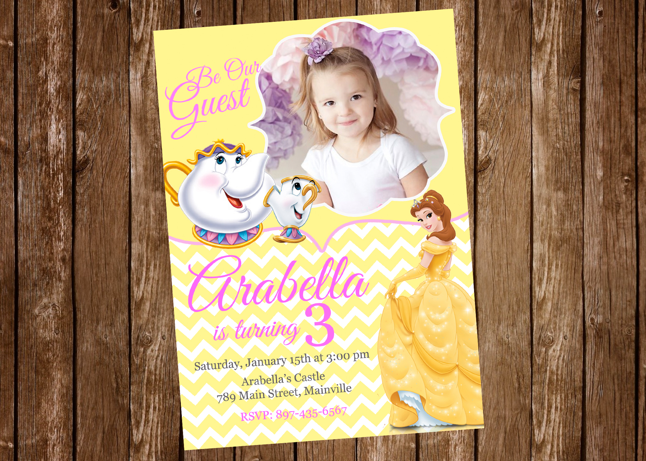 Belle beauty and the beast princess belle birthday party belle 20invitation 20 233 1 original filmwisefo