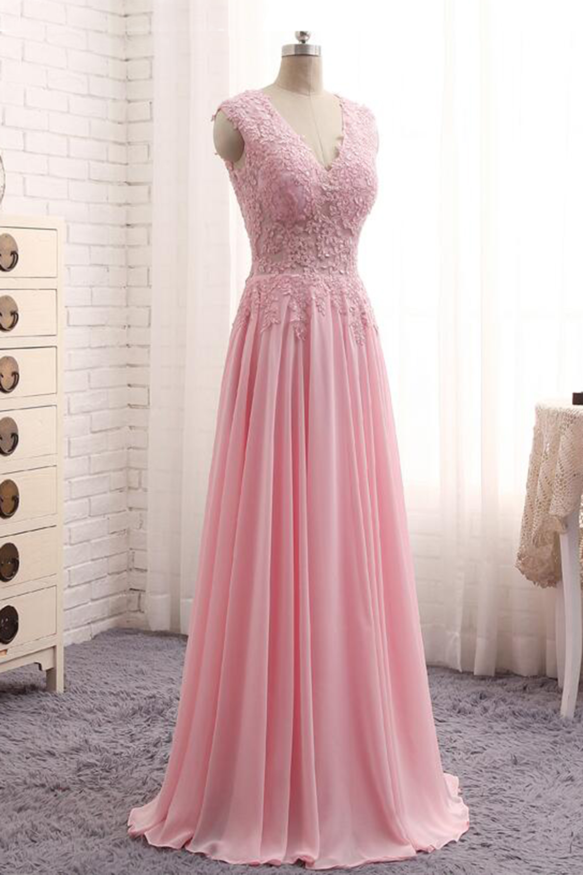 Cheap Prom Dresses by SweetheartDress · Elegant pink lace long A ...