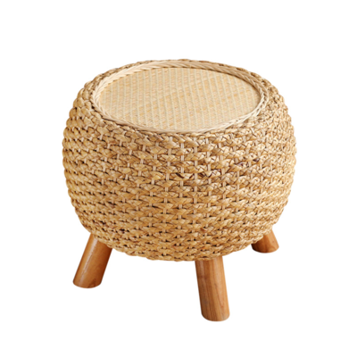 Excellent Round Floor Cushion Straw Pouf Footstool Floor Seating Yoga Gamerscity Chair Design For Home Gamerscityorg