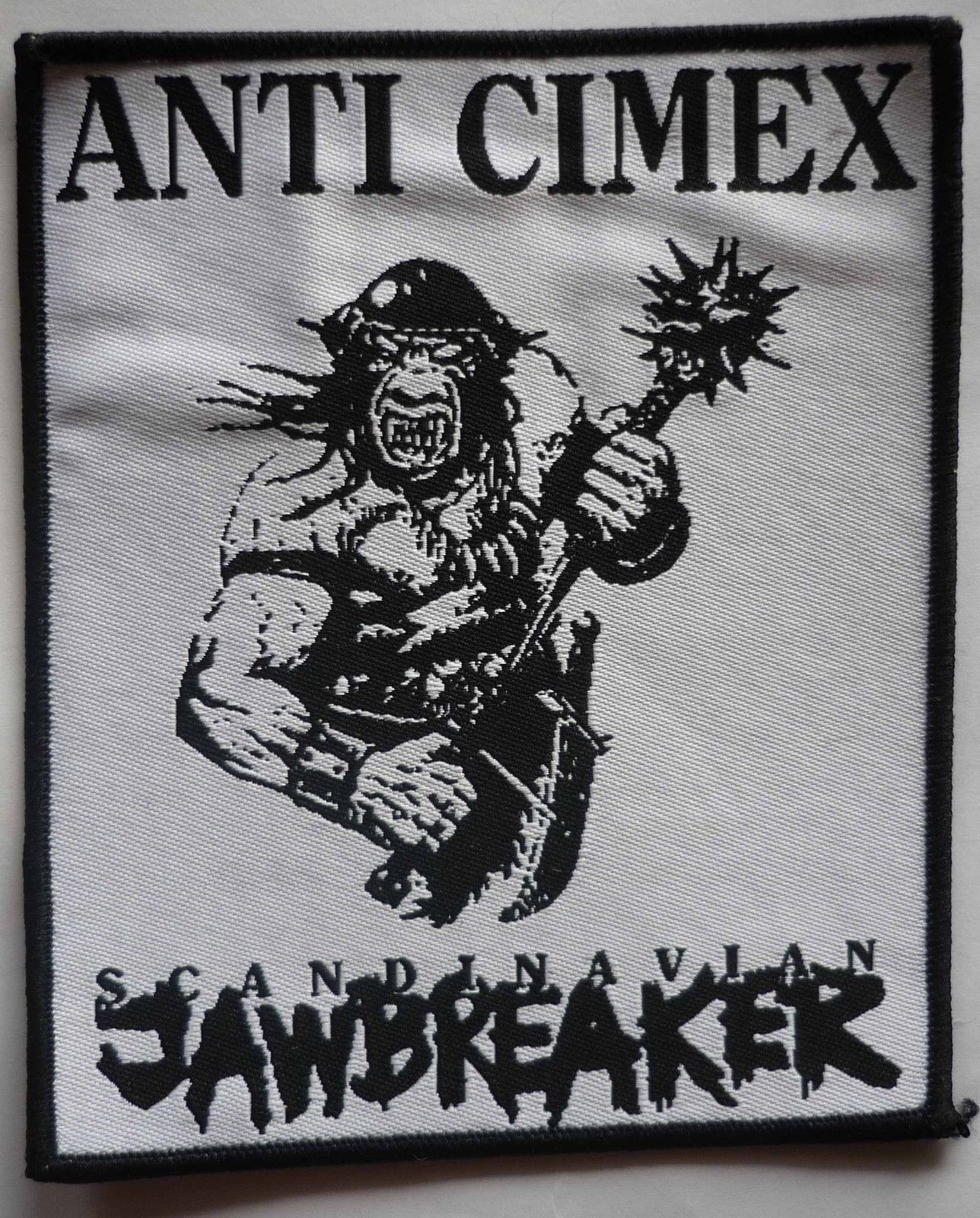 Anti Cimex Scandinavian Jawbreaker Woven Patch Black Seeds Records Merch Online Store Powered By Storenvy