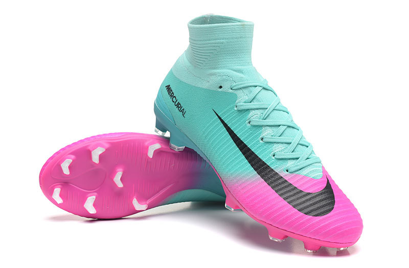 buy online 24fad 7a7cc Nike Mercurial Superfly V FG Pink Black Blue Soccer Cleats