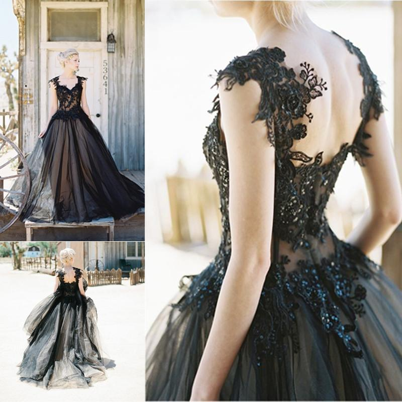 Black prom dress, elegant prom gown, evening party dress ...