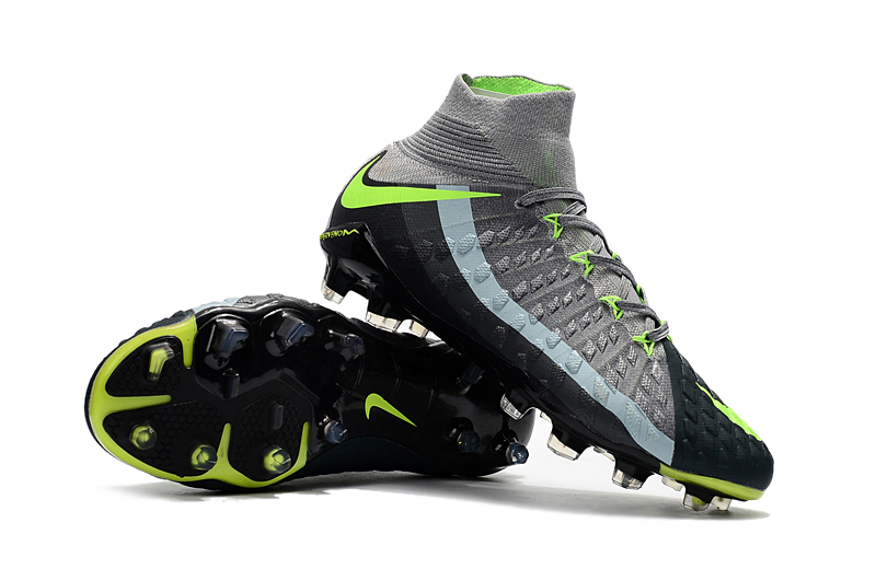 big sale 2f9e5 94ec2 Nike Hypervenom Phantom III DF FG Grey Green Black Soccer Cleats sold by  cleatssale4A