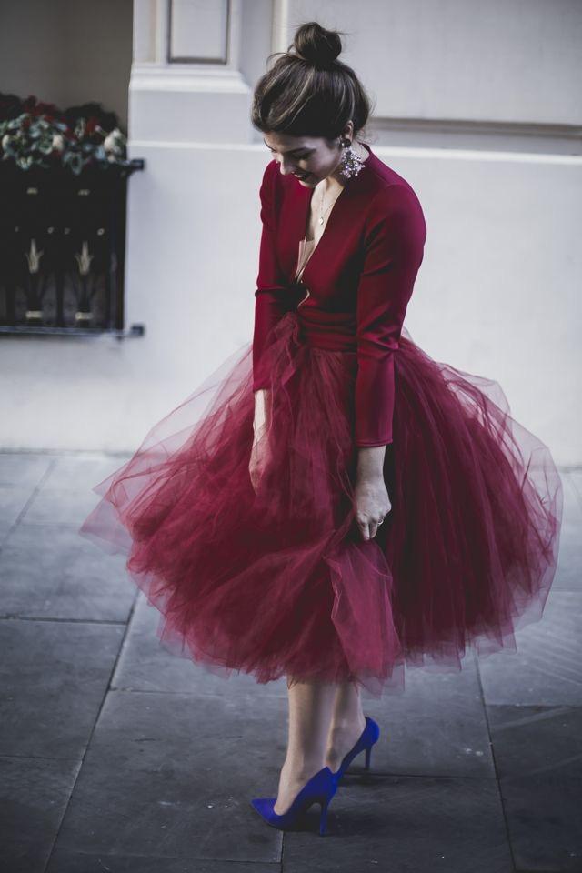 547a2df086 Burgundy TuTu Tulle Skirt for Women · dressydances · Online Store ...