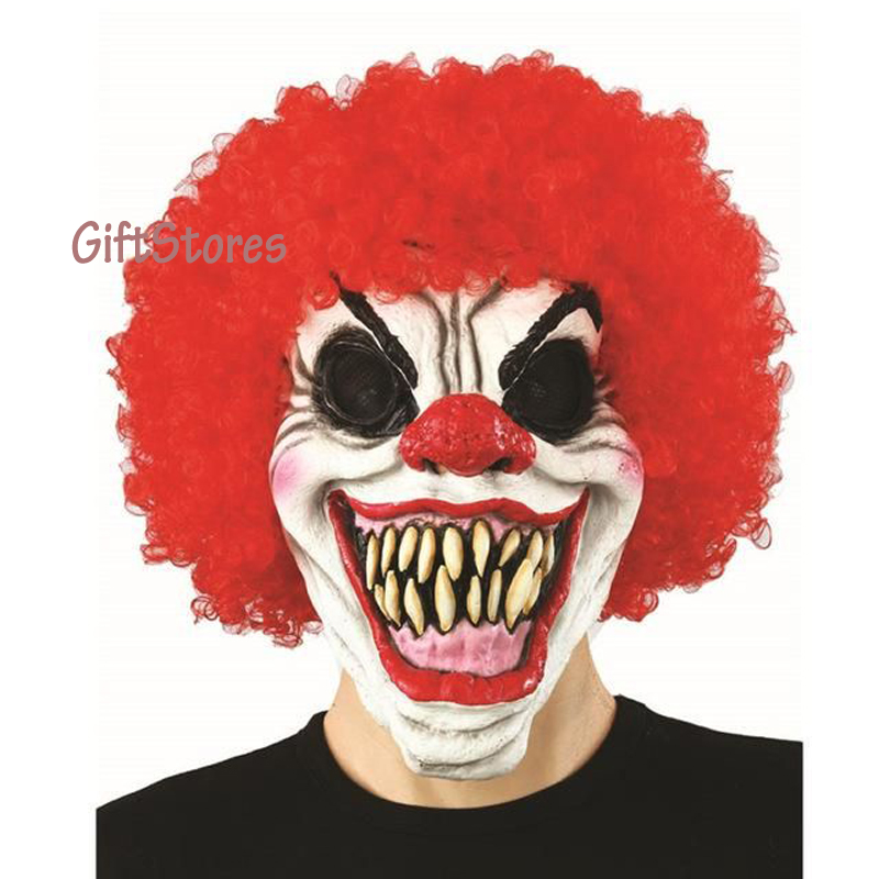 Pennywise Clown Mask Movie It Masks Classic Scary Clown ... Scary Halloween Clown Masks
