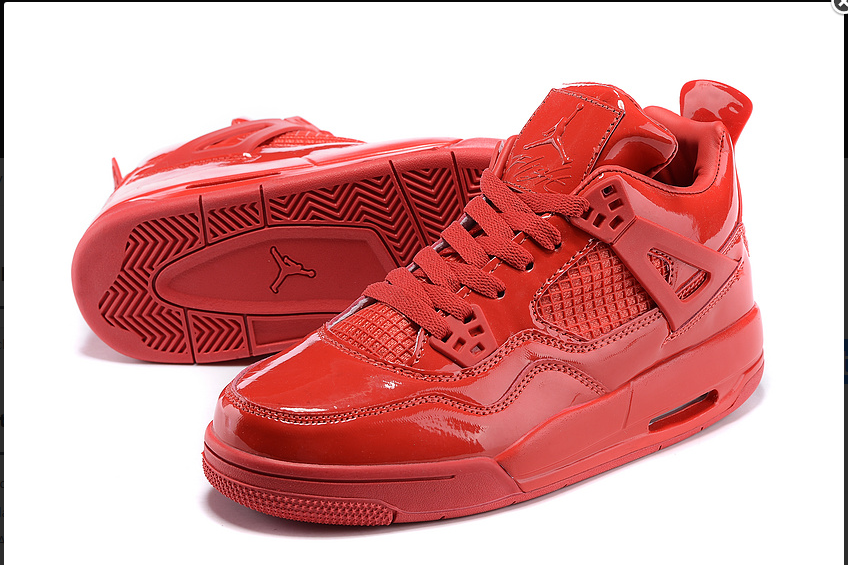 Original Air Jordan 4 Retro 11Lab4 Red Patent Leather For Sale