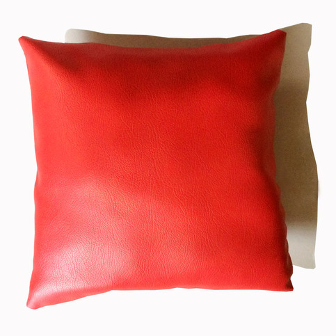 16 Quot Faux Leather Throw Pillow Sofa Couch Pillow Cushion