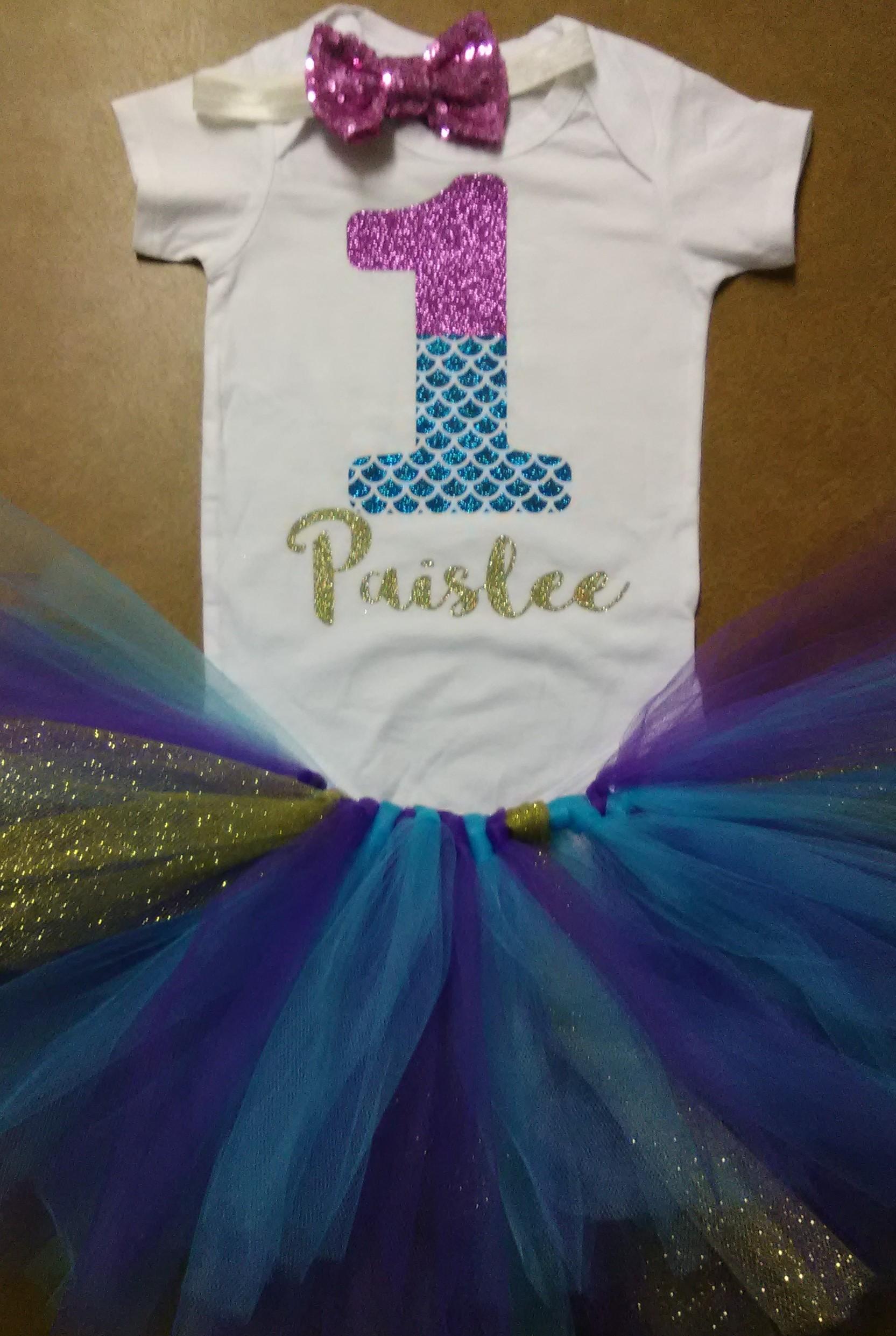 Mermaid Tutumermaid Onesiemermaid Glitter Shirt First Birthday Sequin