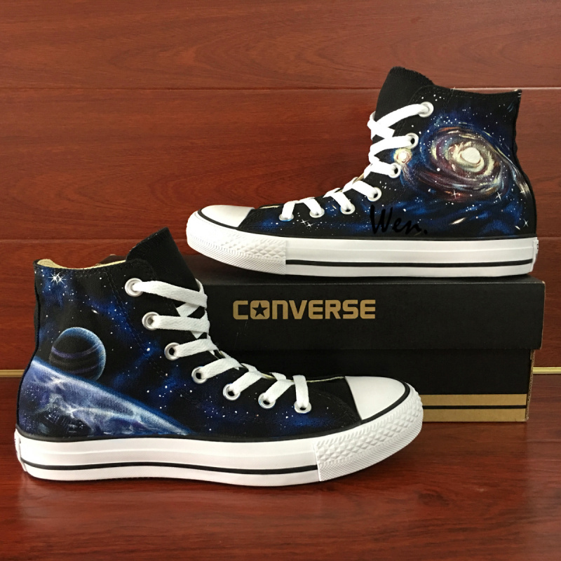 f96ca4677e Customize Galaxy Nebula Universe Original Design Converse All Star Custom  Hand Painted Shoes Men Women's Sneakers High Classic Skateboarding Shoes