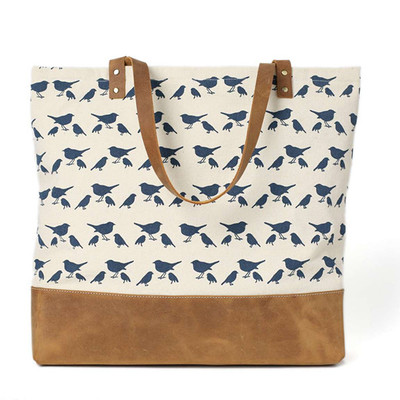 fa253f5dd181 Canvas Leather Bag · Unihandmade Leather Studio · Online Store ...