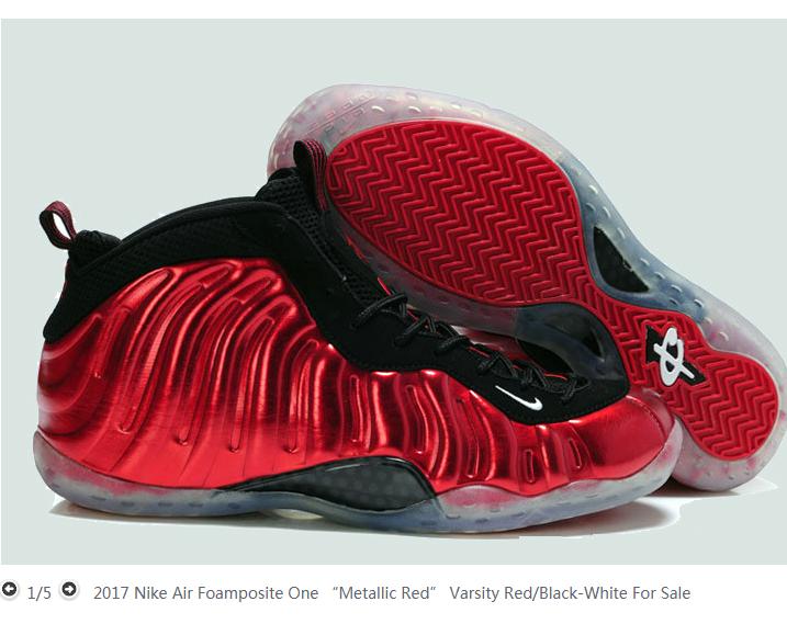 "6014872deb2d8 2017 Nike Air Foamposite One ""Metallic Red"" Varsity Red Black-White For  Sale on Storenvy"