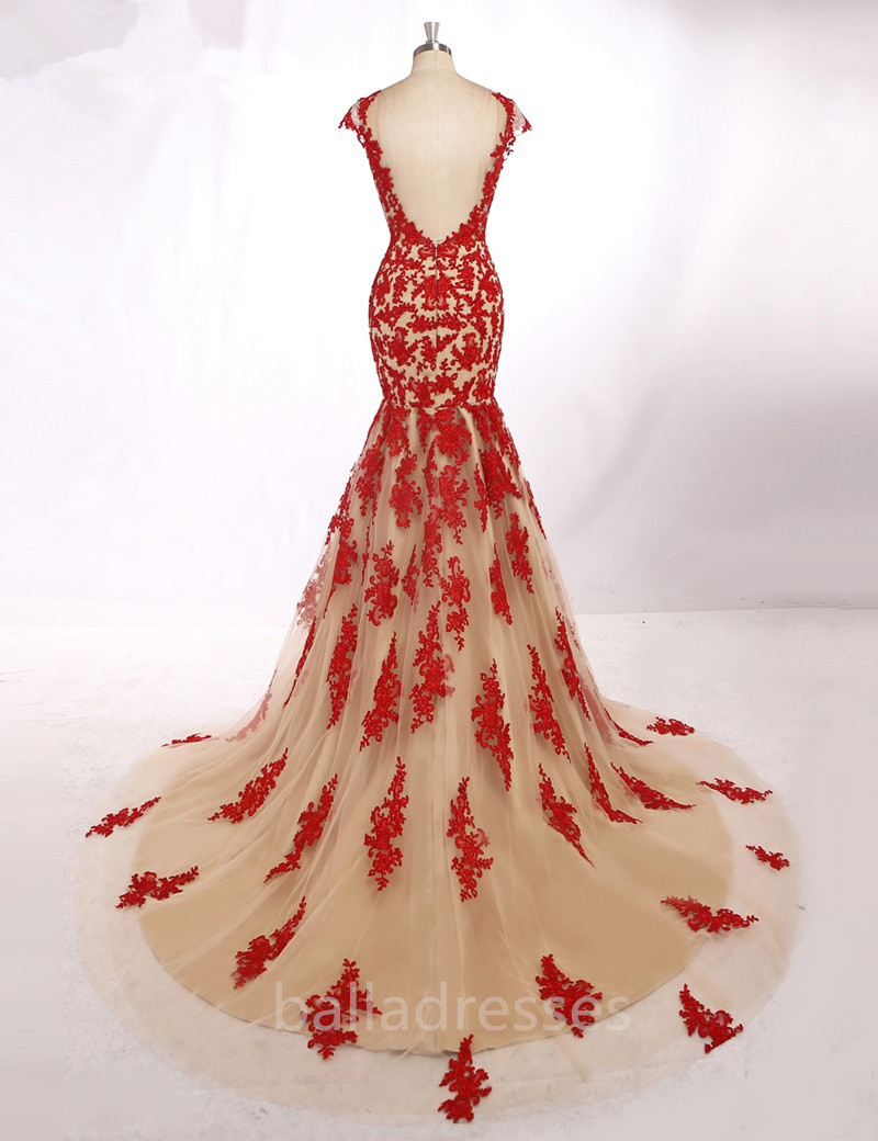 w465 elegant long evening gowns sexy backless red lace