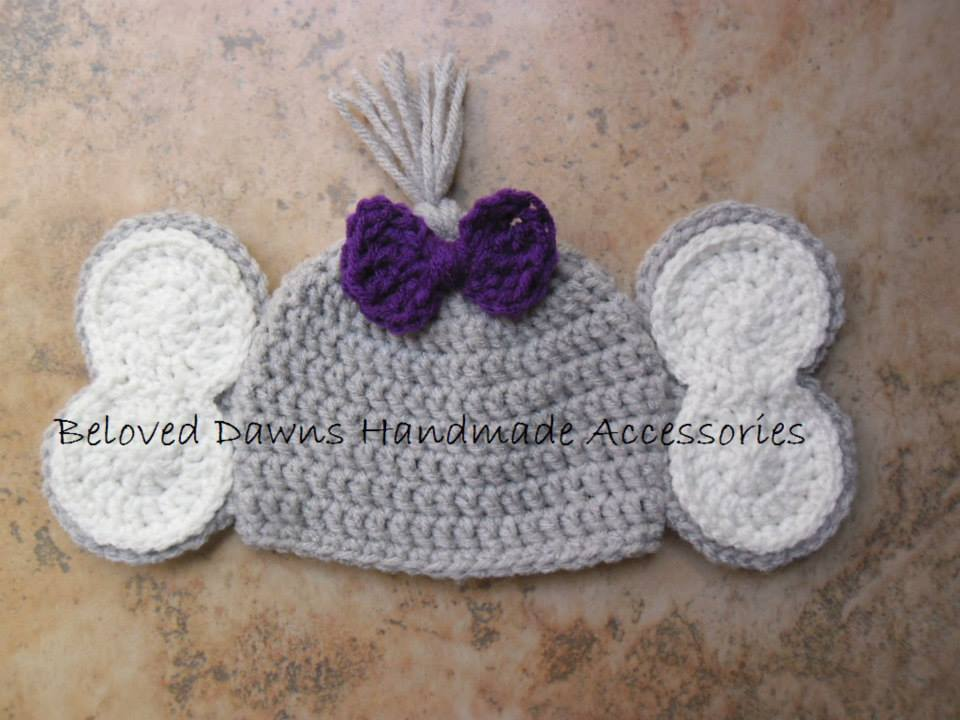 Crochet Elephant Hat from Beloved Dawn