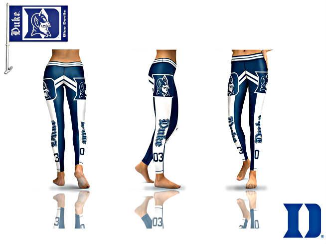 c02035e1 Women's Athletic Pants Tight Leggings Duke Team Football Nfl Blue-white  (all size) from SportsWorld2016