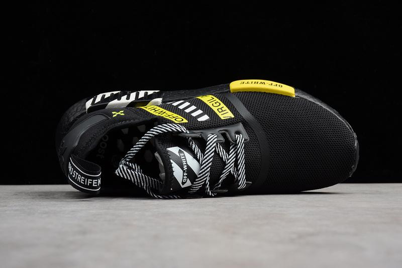 7bf6aebb44213 ... Fashion Adidas NMD R1 x OFF-WHITE Boost Black runner shoes - Thumbnail  2 ...