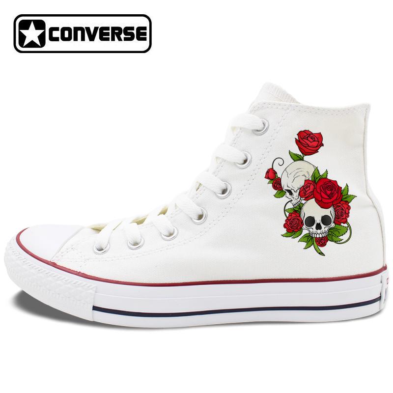 Original Design Converse Shoes Flower
