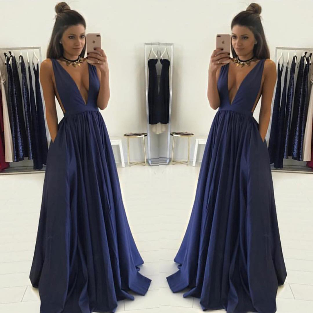 Image result for deep blue gown