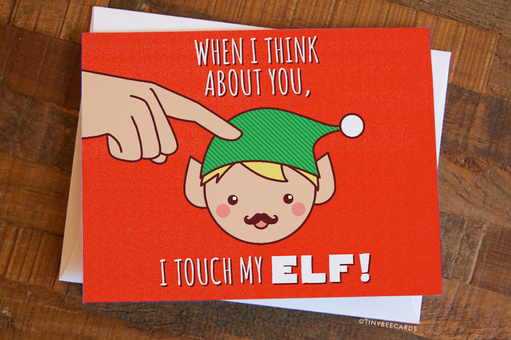 Naughty Christmas Card \