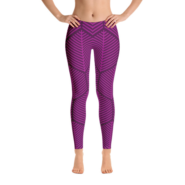 21b393e91904c9 GEOMETRIC STUDIO Workout Leggings | Magenta/Plum · Jamayca Studio ...