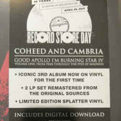 Coheed and Cambria - Good Apollo   IV (Record Store Day Release) from CI  Records