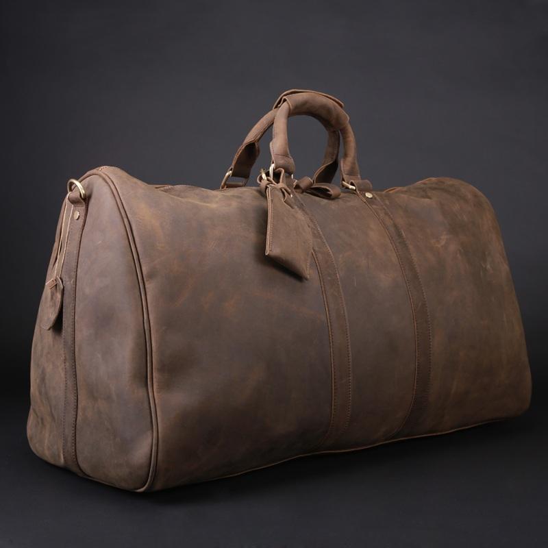 1a64f833dc87 Men s Handmade Vintage Leather Travel Bag   Luggage   Duffle Bag   Sport Bag    Weekend ...