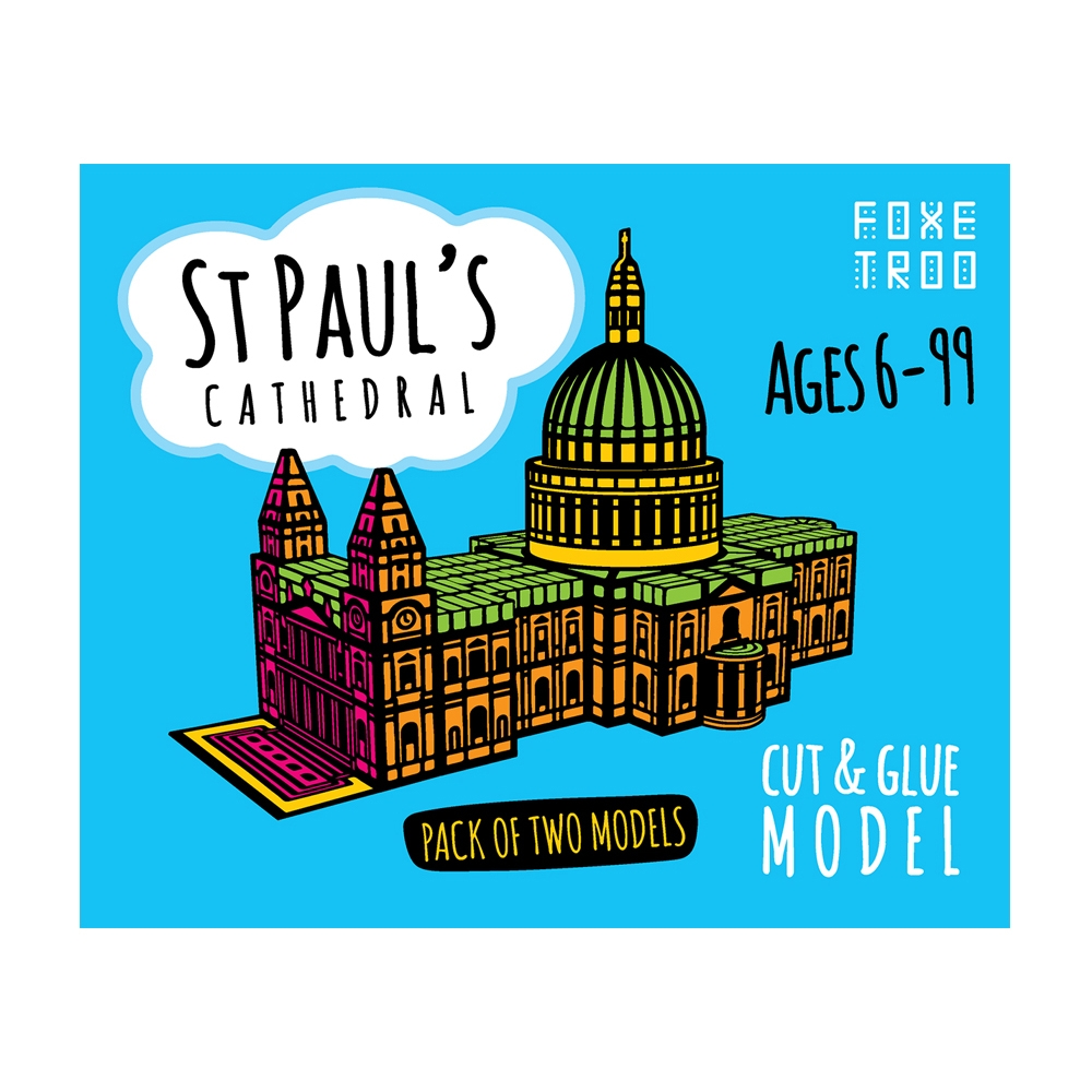 St Paul's Cathedral of London Foxetroo Cut & Glue Paper Model Kit for Kids  Aged 6+ from Paperlandmarks