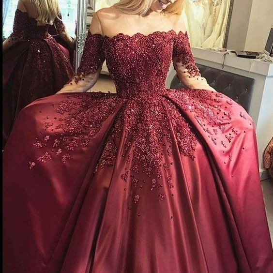 New Fashions Ball Gown Lace Prom Dresses Formal Dress