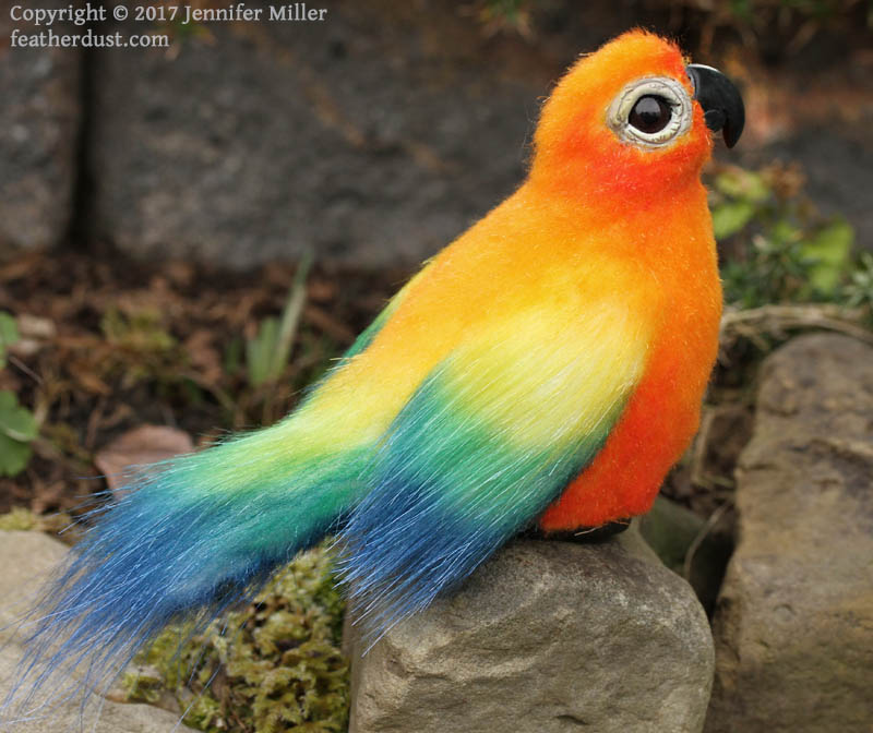 Party The Sun Conure Soft Sculpture Featherdust Studio Online
