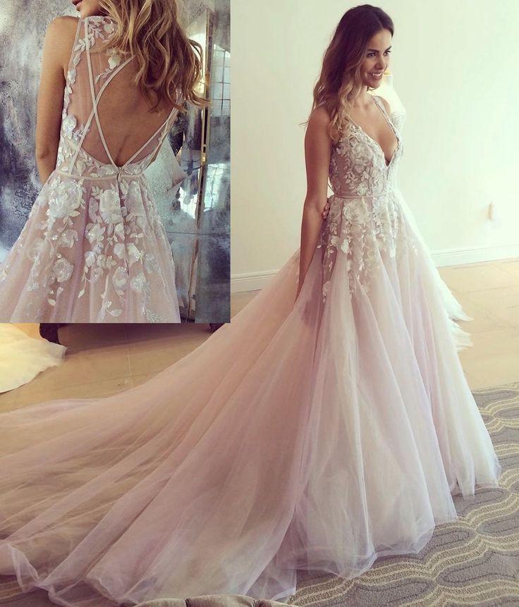 9139b07c0b Deep V Neck Prom Dress