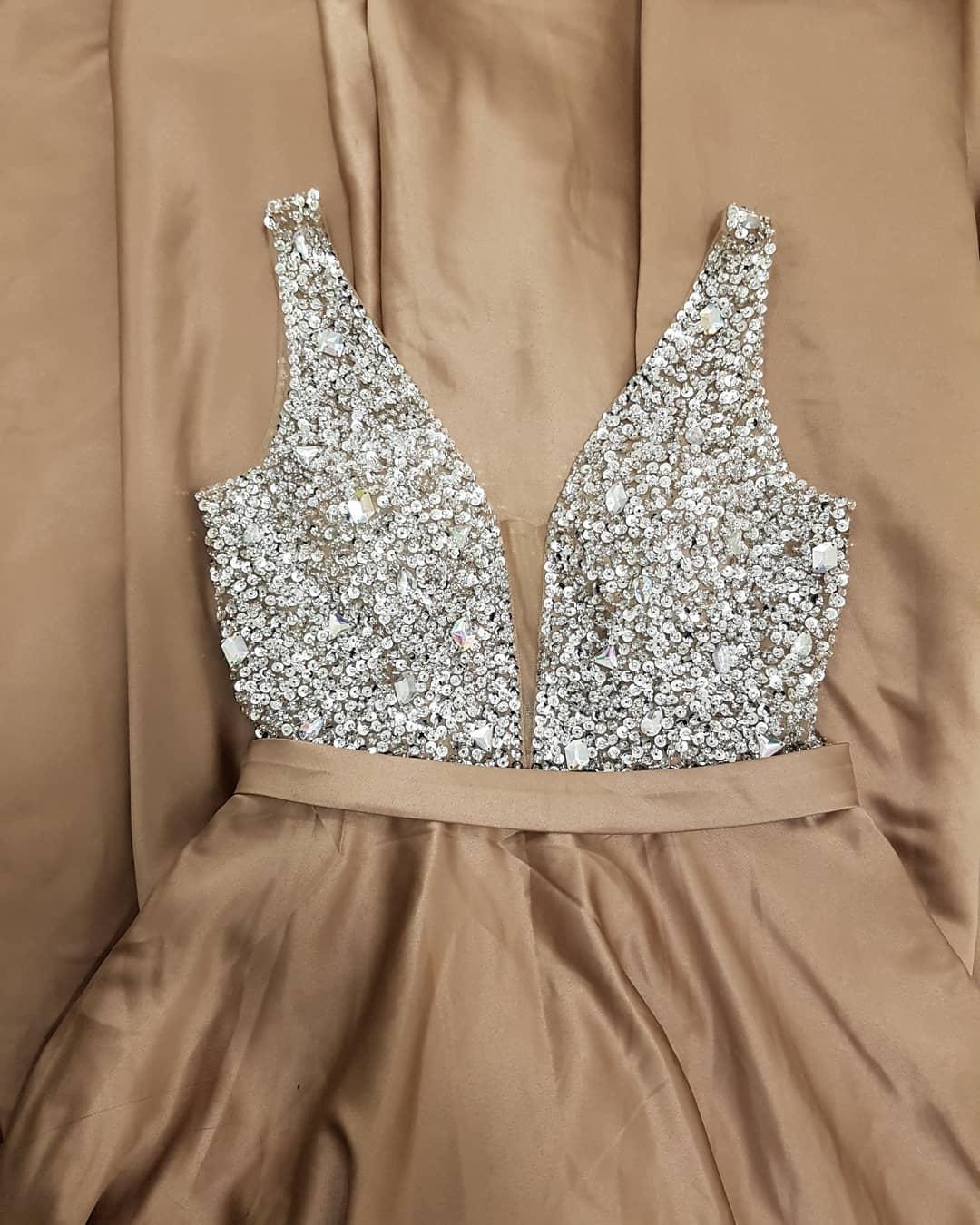 7df9af777fa3 Sparkly Sequins Champagne Long Prom Dress · wendyhouse · Online ...