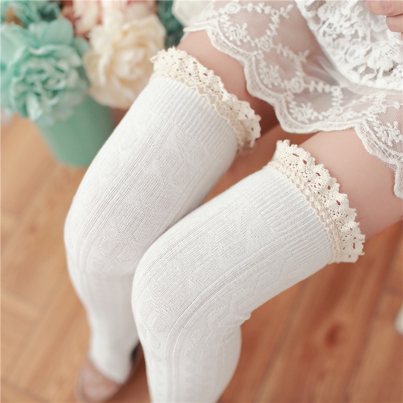 89d05ed05 Crochet lace thigh high stockings on Storenvy