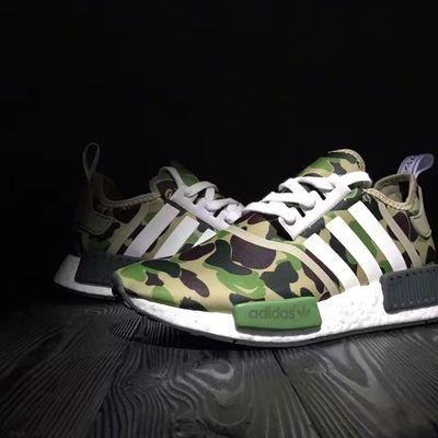 b142d8832 Fashion adidas nmd r1 bape boost runner green camo shoes - Thumbnail 3