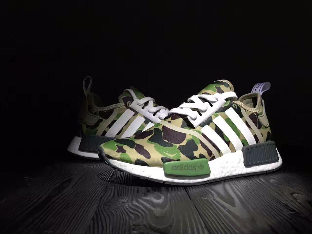moda adidas nmd r1 bape impulso runner verde mimetico scarpe storenvy
