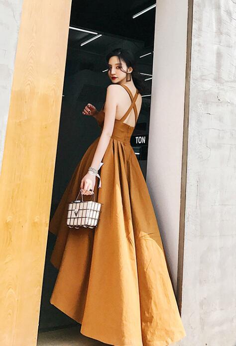 Prom Dress Dark Orange
