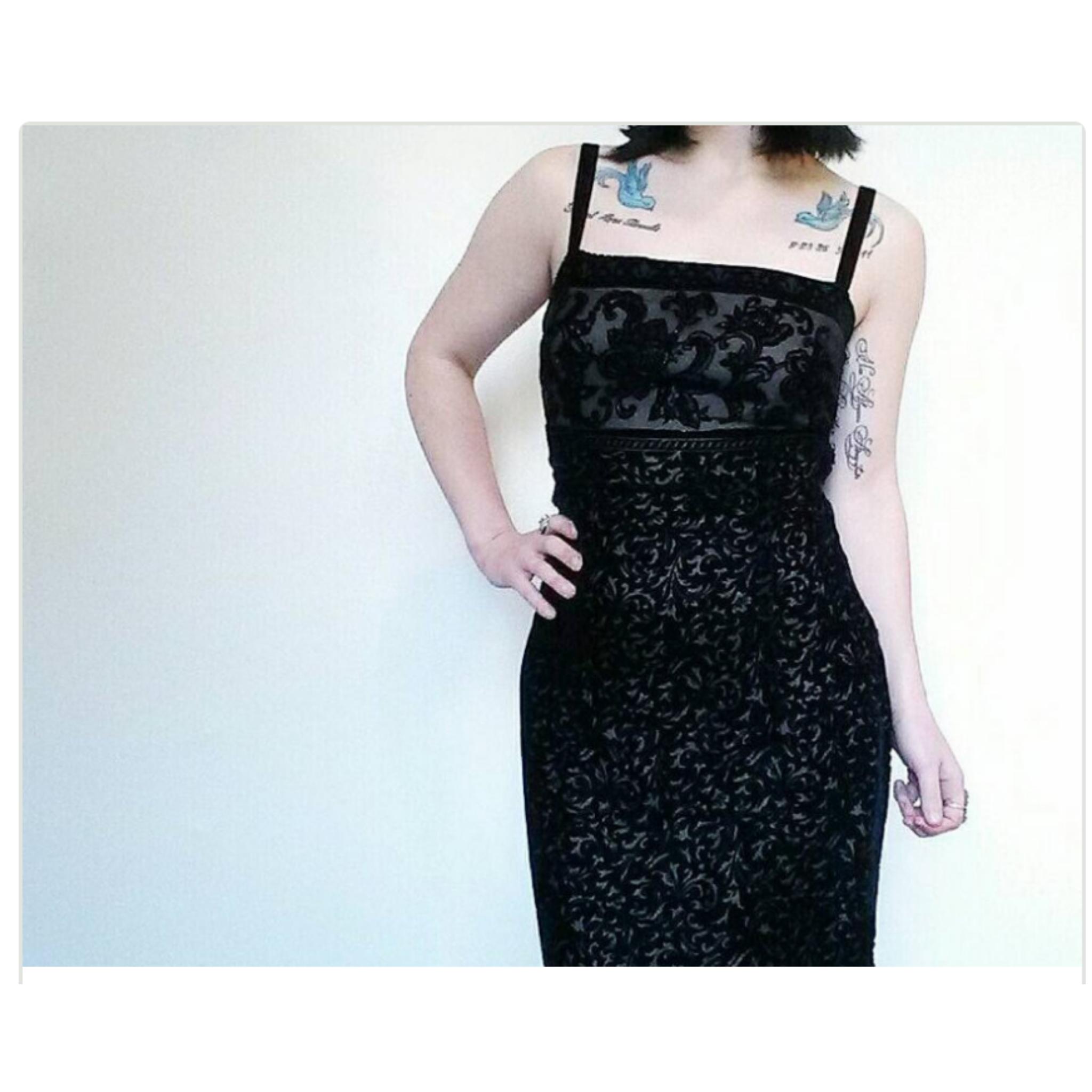 06fd63c13b0 90 s Black Floral Velvet Maxi Dress - Vintage GRUNGE PROM Dress ...