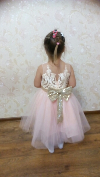 d4bfbd5a83c ... Girls Big Sequin Bow tutu dress