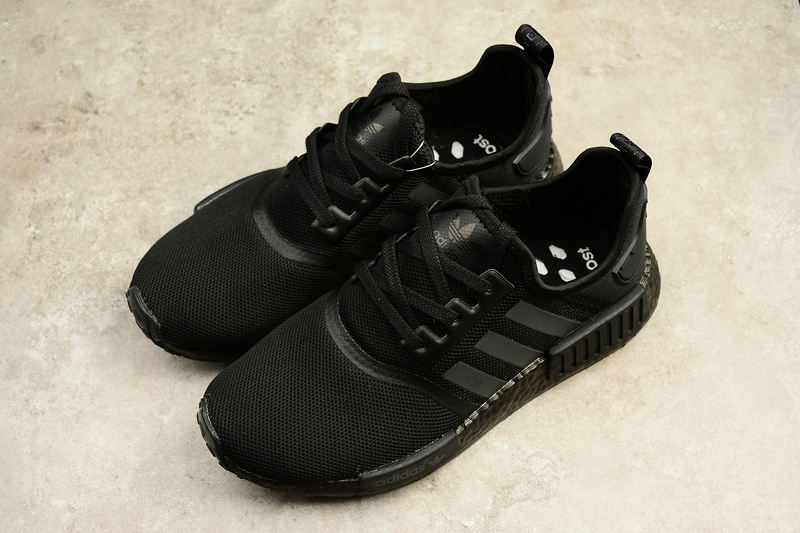 abd6a431b9b13e Adidas NMD Boost R1 All black runner shoes S31508 on Storenvy