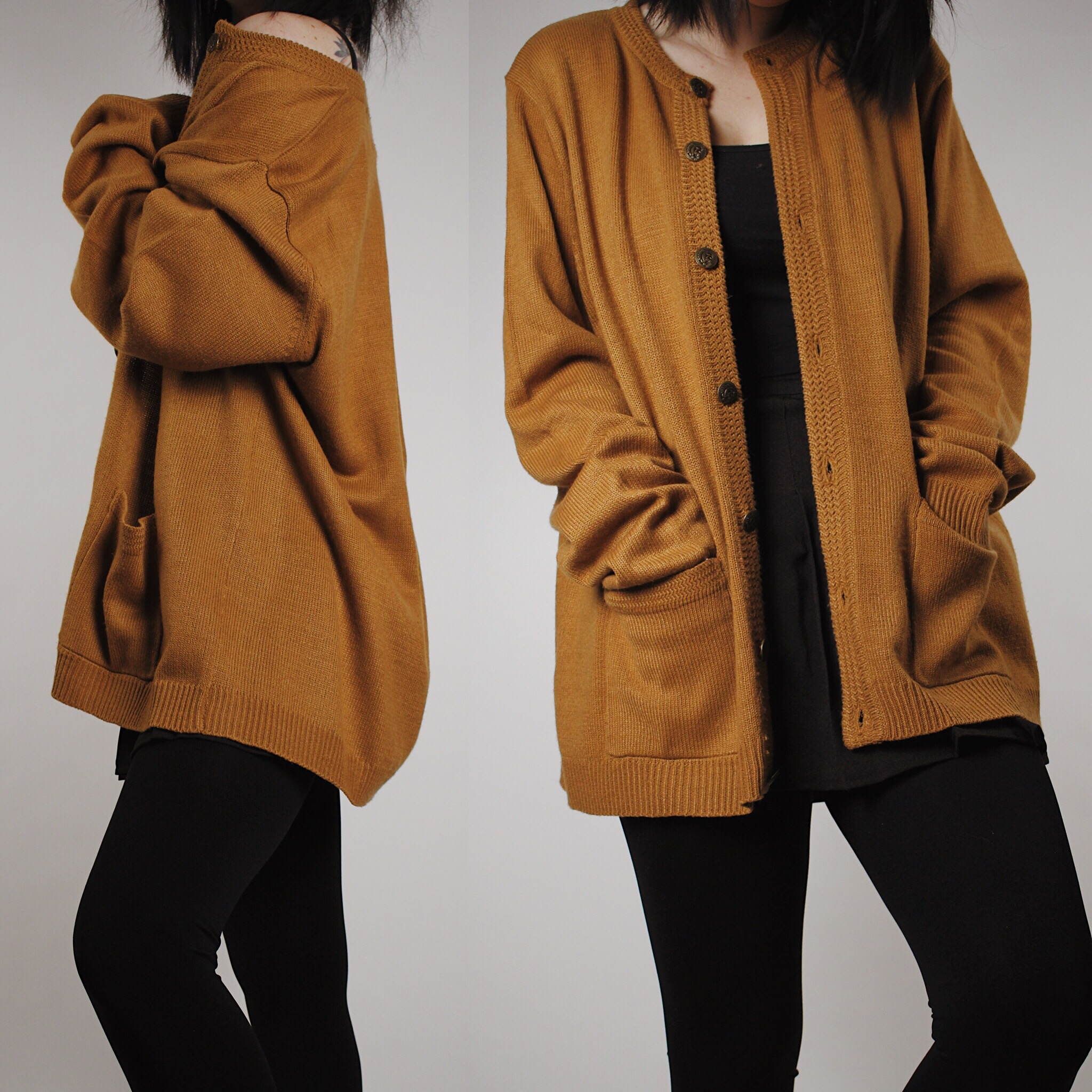 dd89922699c RESERVED FOR KYLIE - Vintage 90s Mustard Yellow Cardigan from Last Rites