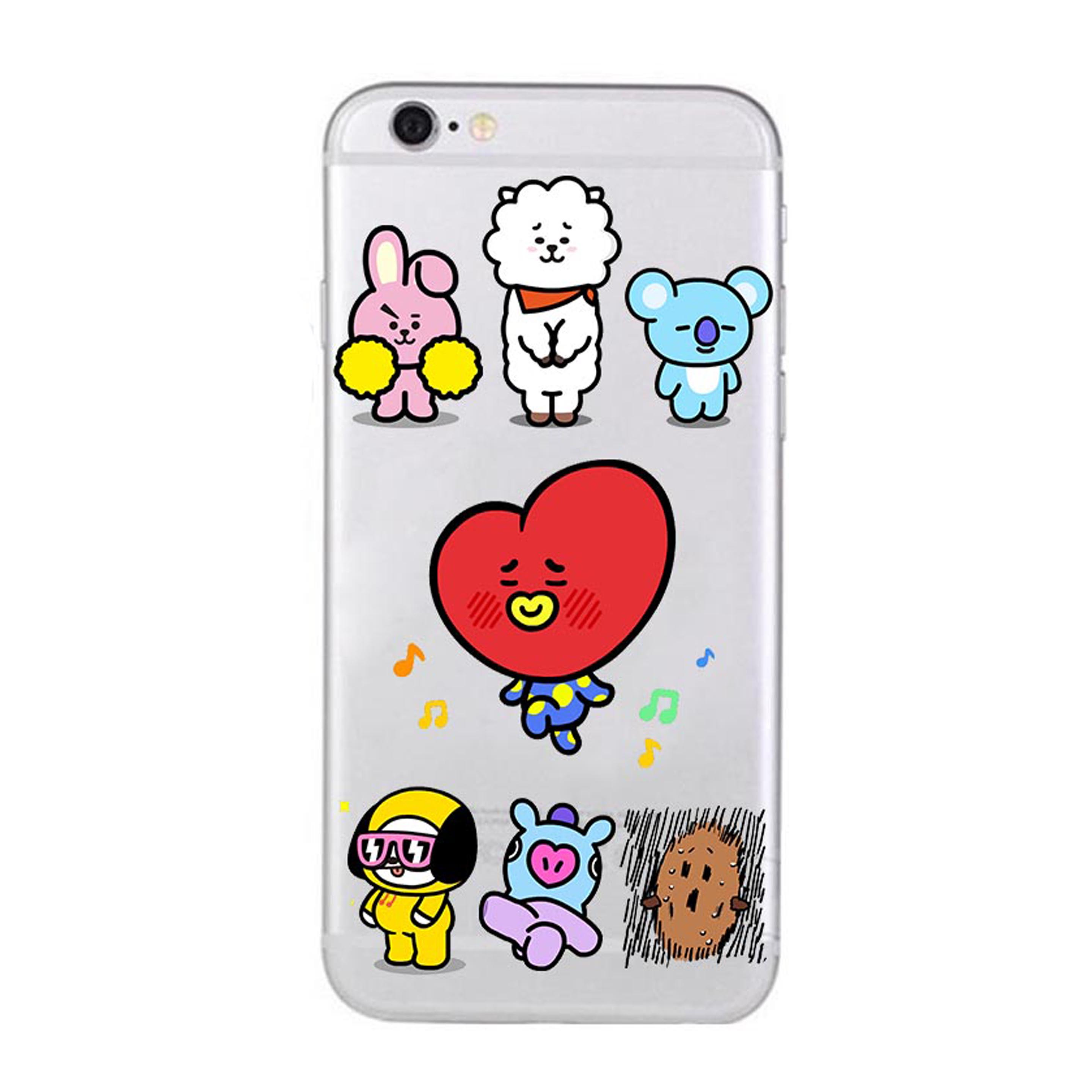 new styles cc0d1 9f049 ♥ BTS BT21 Character Clear Phone Case